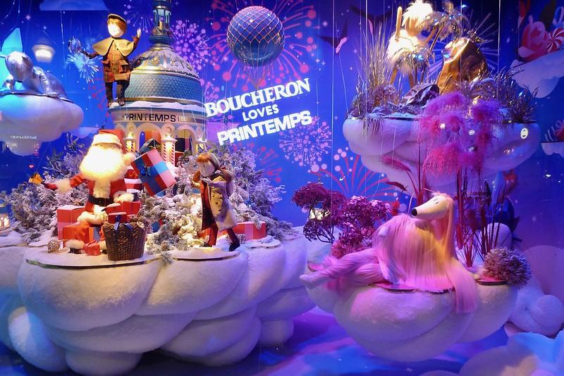 Les vitrines animées, Noël 2018 au Printemps Haussmann, Paris