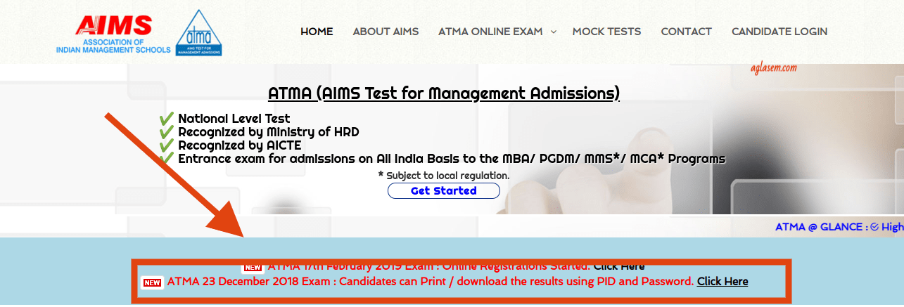 ATMA 2018 Result Available for 23 December Exam; Check at atmaaims.in