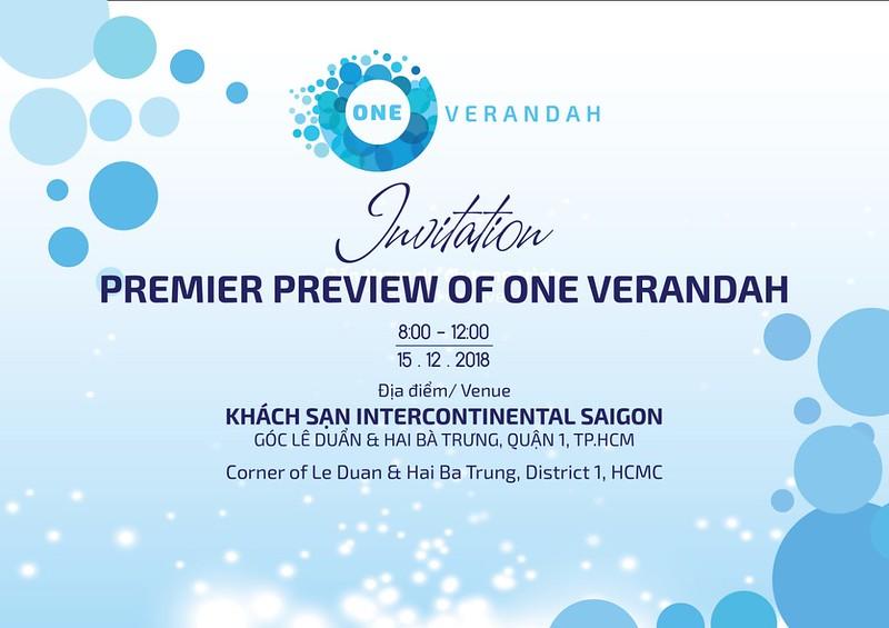 thiệp mời E-Invitation event mở bán dự án One Verandah