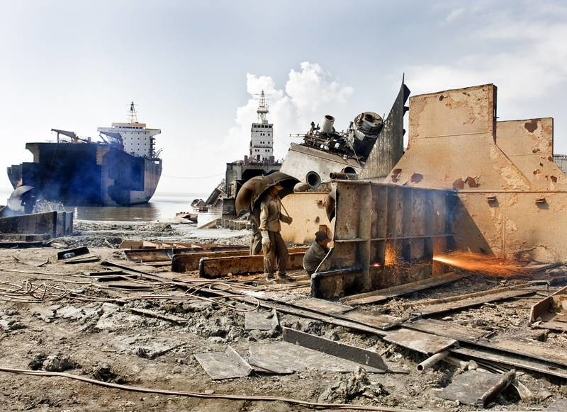 Shipbreaking yards in Bangladesh