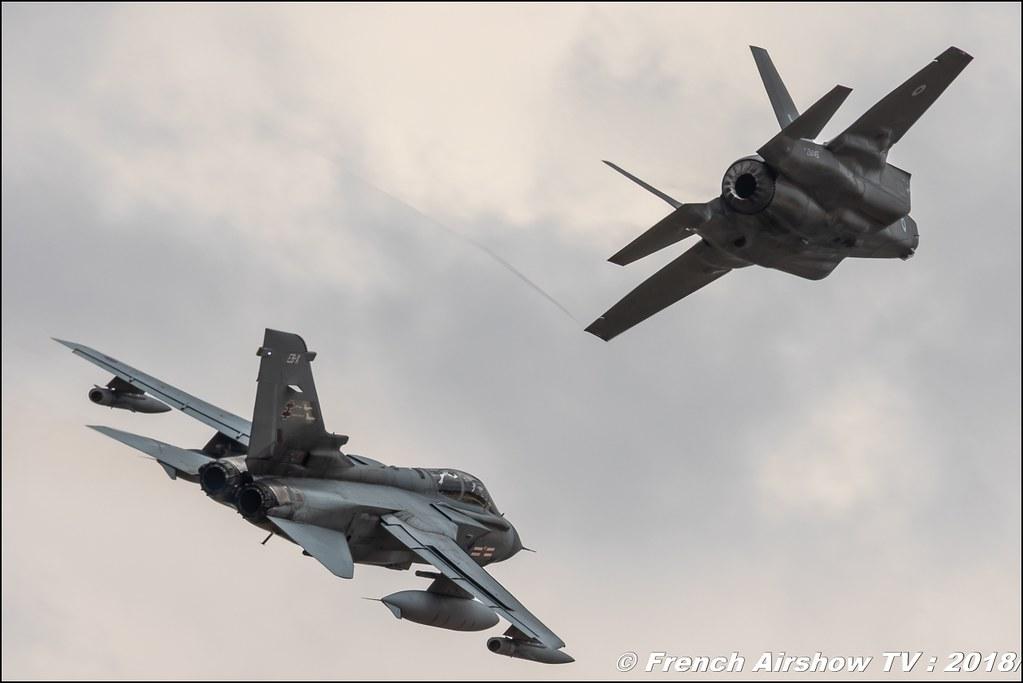 Heritage Flight : F-35B & Tornado GR4 RIAT 2018 - Royal International Air Tattoo RAF Fairford Royaume-Uni Canon Sigma France contemporary lens Meeting Aerien 2018