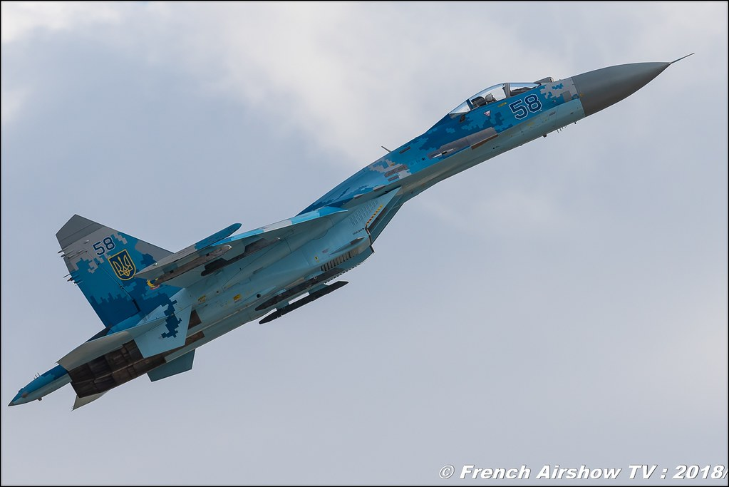 Su-27 Flanker Ukraine Air Force flying display RIAT 2018 - Royal International Air Tattoo RAF Fairford Royaume-Uni Canon Sigma France contemporary lens Meeting Aerien 2018