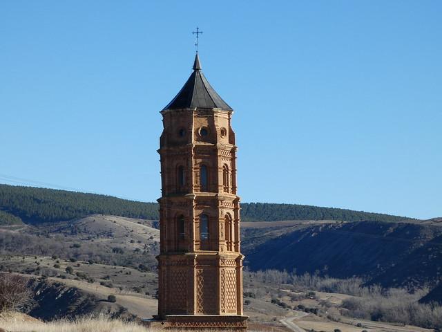 Torre mudéjar de Olalla (Tierras del Jiloca y Gallocanta)