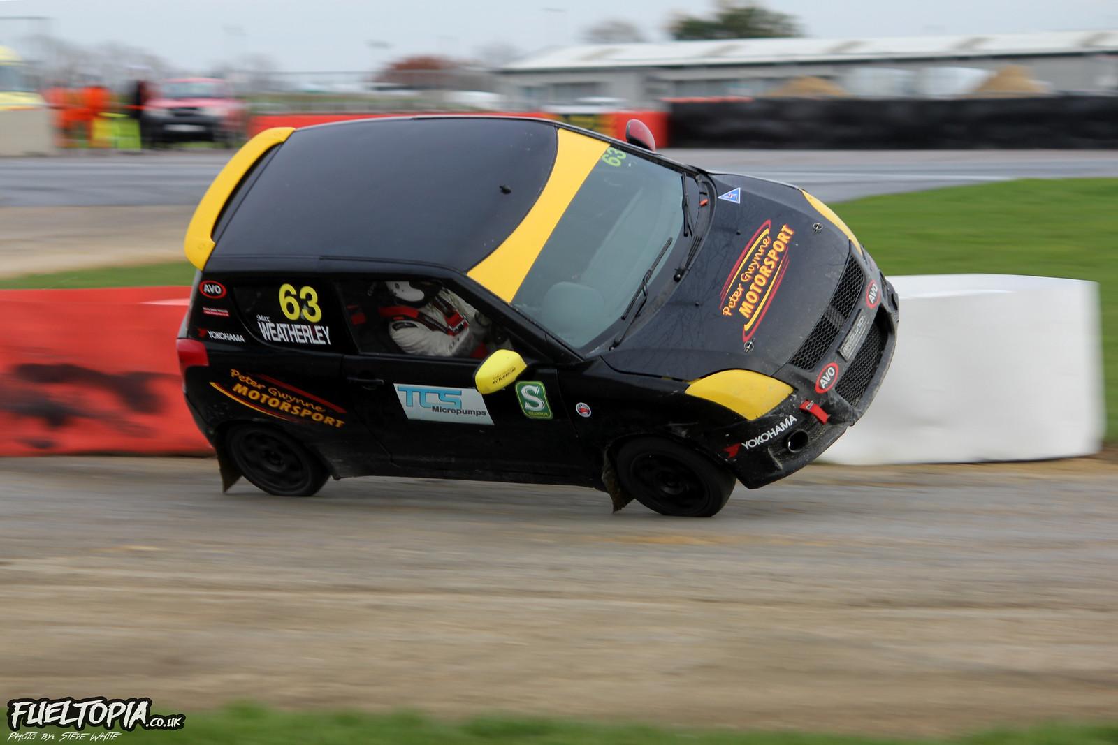 Max Weatherley Suzuki Swift Silverstone BRX British Rallycross Championship 2018 Steve White Fueltopia