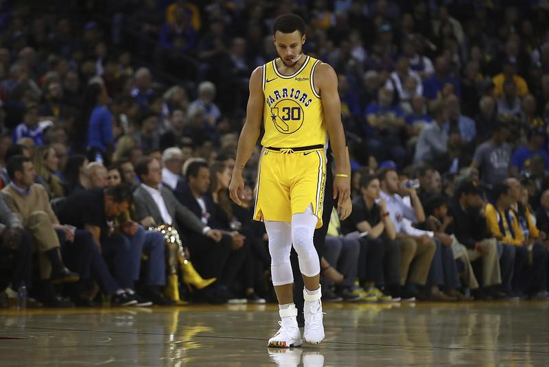 Stephen Curry手感不佳還因傷提前退場。(達志影像)