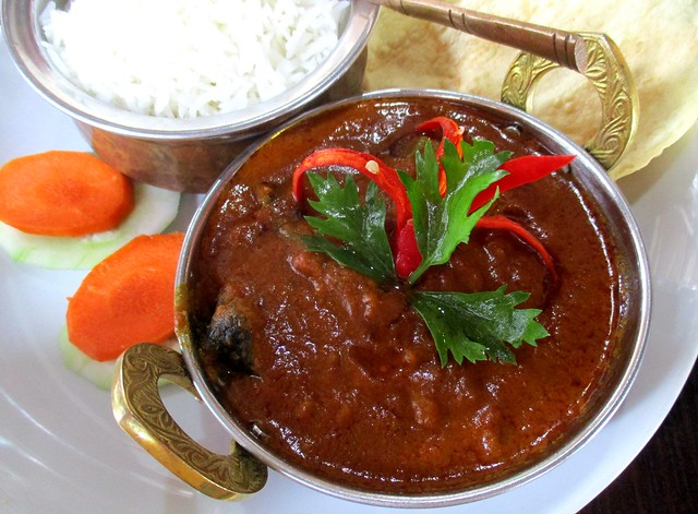 Cafe Ind fish curry with basmati rice