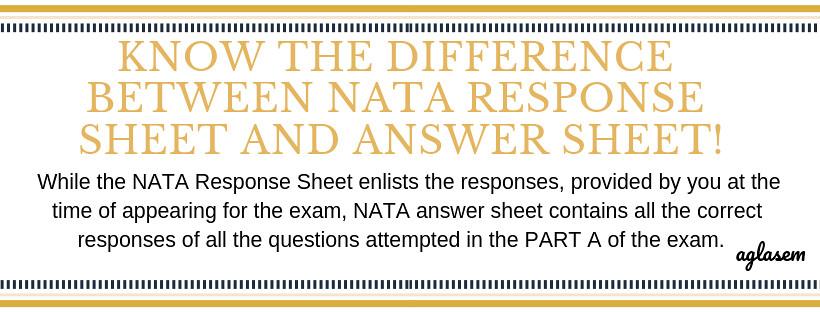 NATA 2019 Answer key