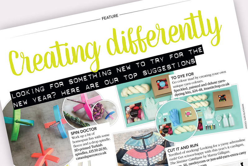 Creating differently feature from Knitting Magazine 189