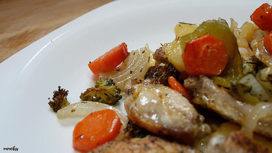 plato sano pollo con verduras