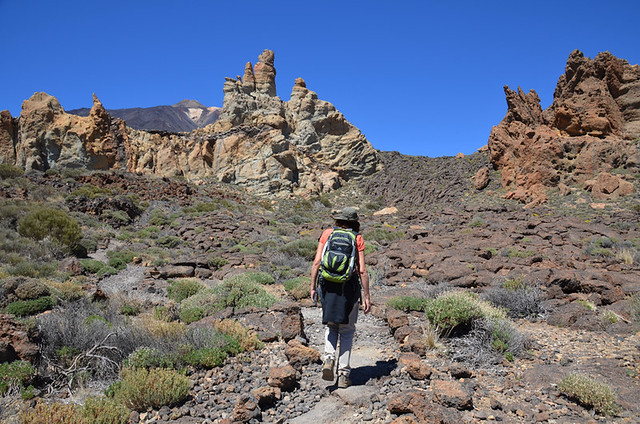 Rock formations, Roques de Garcia route, Teide National Park, Tenerife, Canary Islands