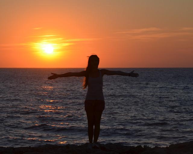 Atardecer en la isla de Menorca