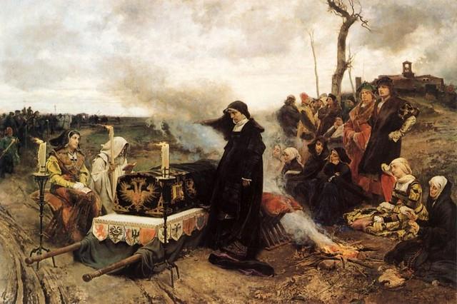 Juana la Loca junto a la tumba de su esposo