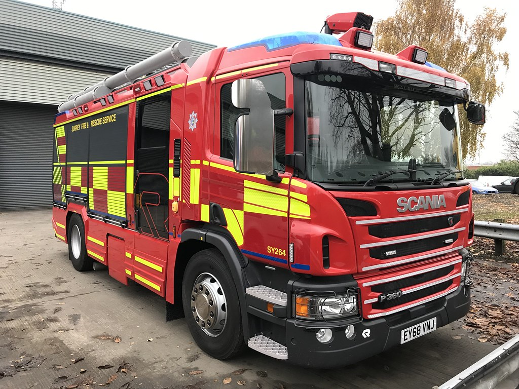 Surrey Fire Amp Rescue Service Brand New Scania P360 Rosenba