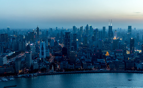 Shanghai #13 - Blue hour over Huangpu | by _Franck Michel_