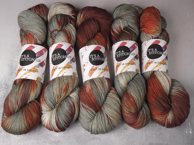 Favourite Sock – hand-dyed pure merino superwash wool 4 ply/sock yarn 100g – 'Birch and Bracken'