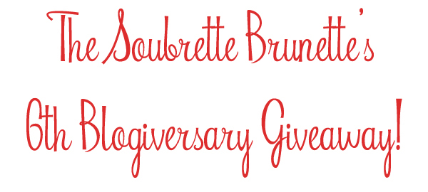 the soubrette brunette blog anniversary giveaway