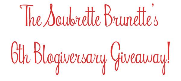 the soubrette brunette blog anniversary giveaway