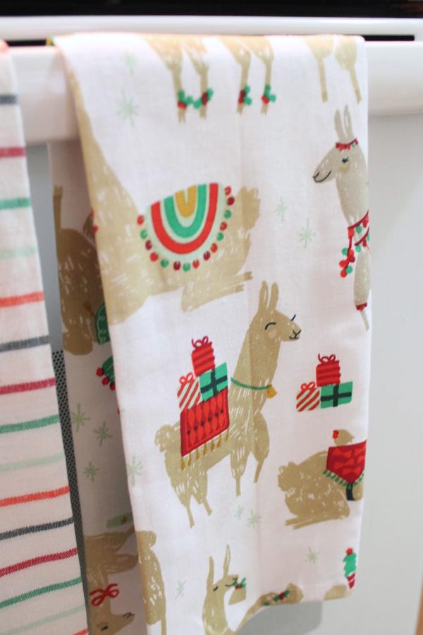 llama dish towels