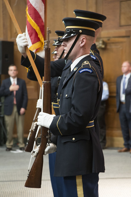 Army color guard at USDA's Veterans Day Ceremony