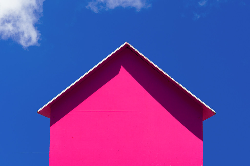 Pink Beach Hut Jan Van Der Wolf Flickr