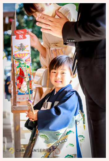 七五三 5歳の男の子 砥鹿神社 愛知県豊川市 お参り