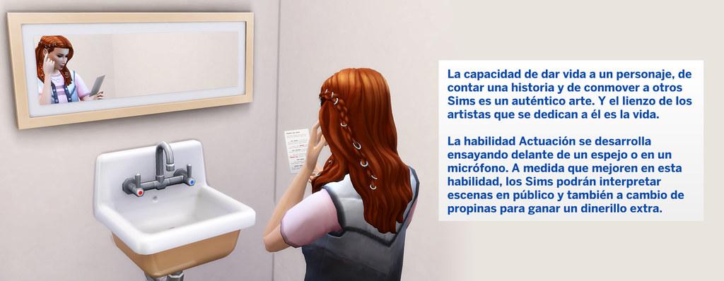 Profesión Actuación en Los Sims 4 - Habilidad actuación