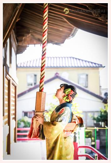 成人式 氏寺にお礼参り ロケーション撮影