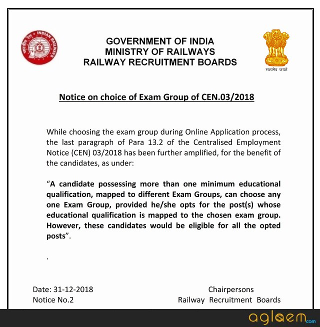RRB JE 2019 Application Form Released; Check Age Limit and Qualification Here