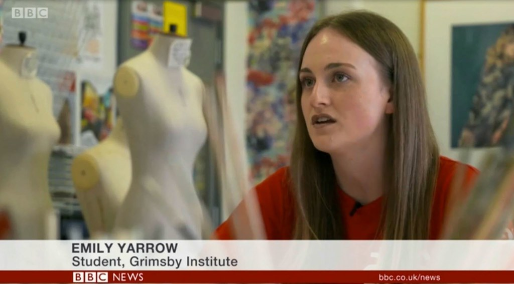 Participant Emily during her BBC interview about the project