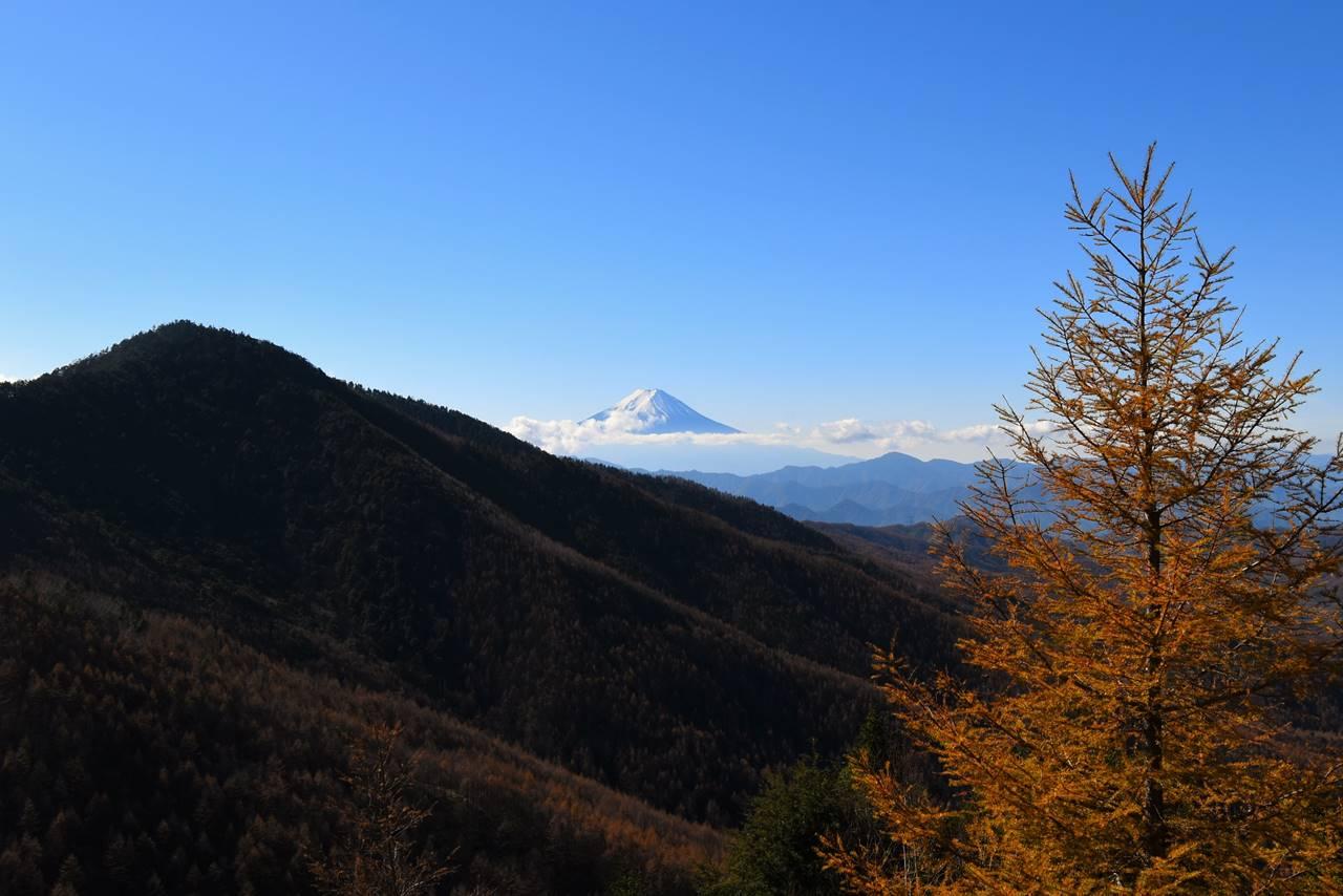 石丸峠からの富士山