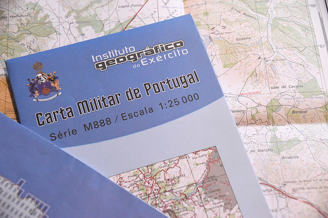 Military map, Portugal