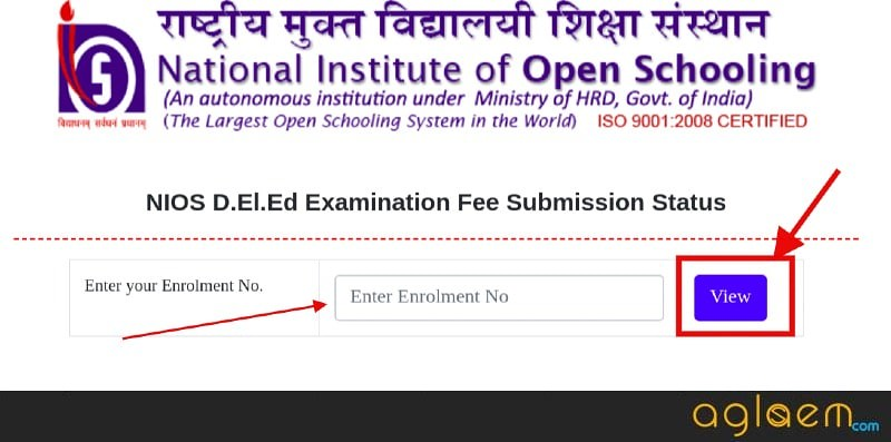 NIOS DElEd 2019-20 Application Status of Fee (Available): Check Here for 501-510 (Last Supplementary Exam)