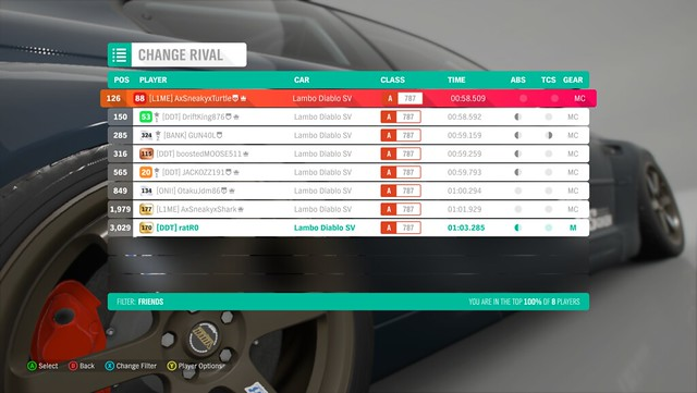 FH4 Time Attack | Road Racing Rivals | Diablo SV - Bamburgh Coast Circuit 31981417848_93444d5859_z