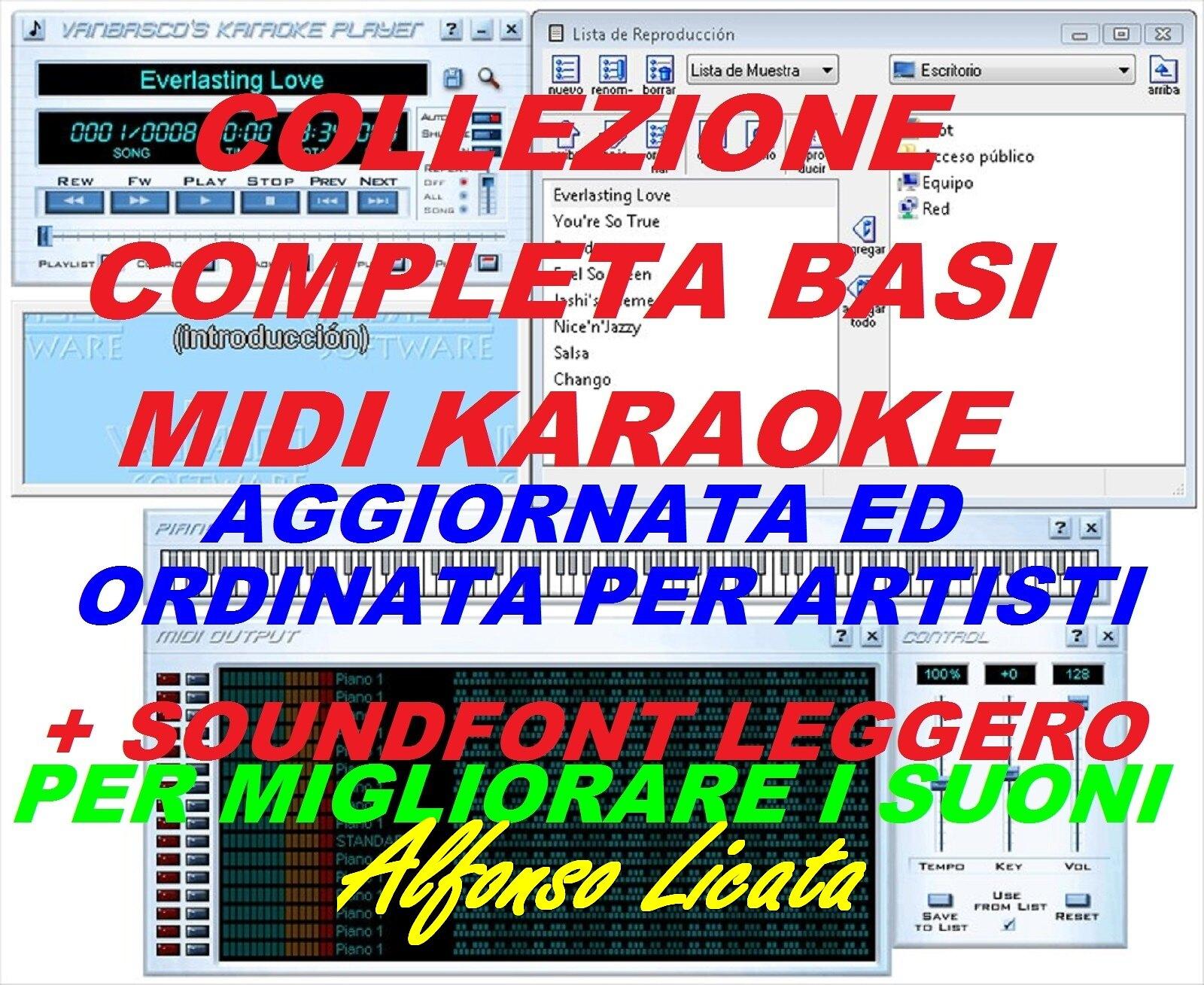 Scusa Ma Tu Suoni détails sur basi midi karaoke racc. completa ordinata e agg. giugno 2020 +  modifica suoni
