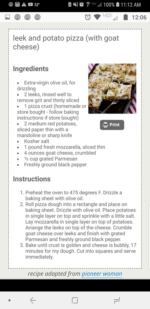 Potato, Leek Pizza 46060784941_1ee6b3294c_b