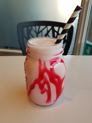 Strawberry Soy Milkshake at Ginger and Rose | by dimsimkitty