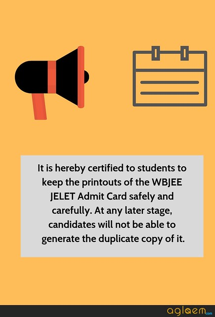 WBJEE JELET Admit Card Instruction
