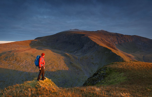 A man on a mountain - Moel Cynghorion - Snowdonia - Wales | by Nick Livesey Mountain Images