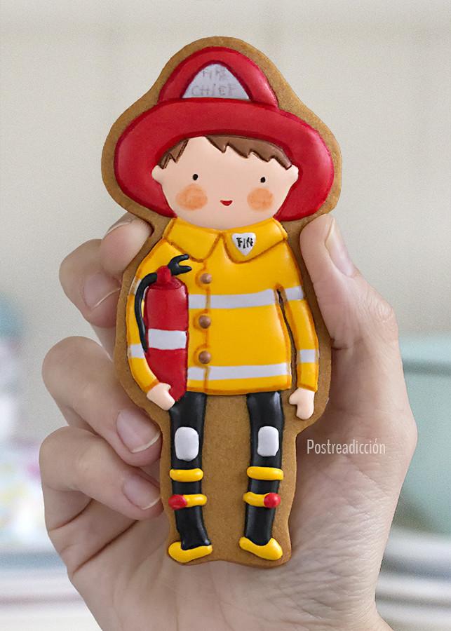 galletas decoradas bomberos