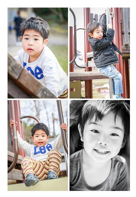 ロケーションフォト 公園で遊ぶ男の子