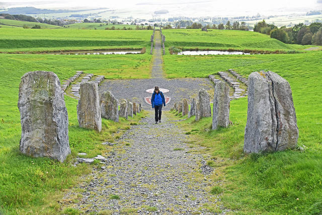 North south line, Crawick Multiverse, Sanquhar, Scotland