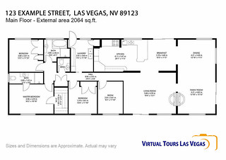 VTLV Order 2D Real Estate FLOOR PLAN EXAMPLE | by virtualtourslasvegas