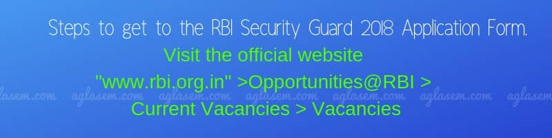 RBI security guard 2018 Recruitment; Apply before 30 Nov, 270 Posts Available