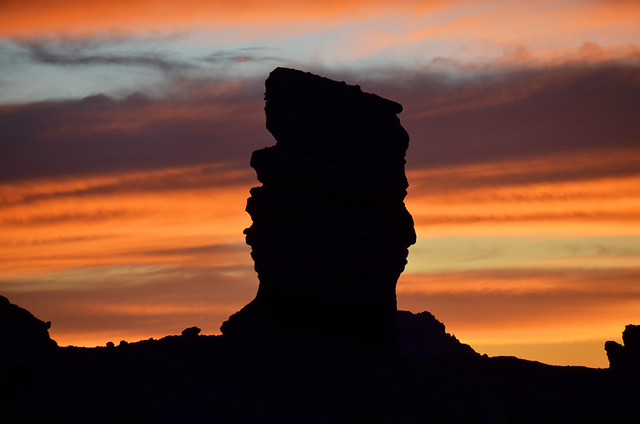 Roques de Garcia after dark, Teide National Park, Tenerife, Canary Islands