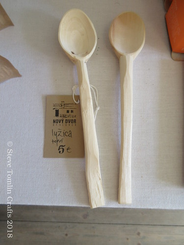 Slovakian carved wooden spoons