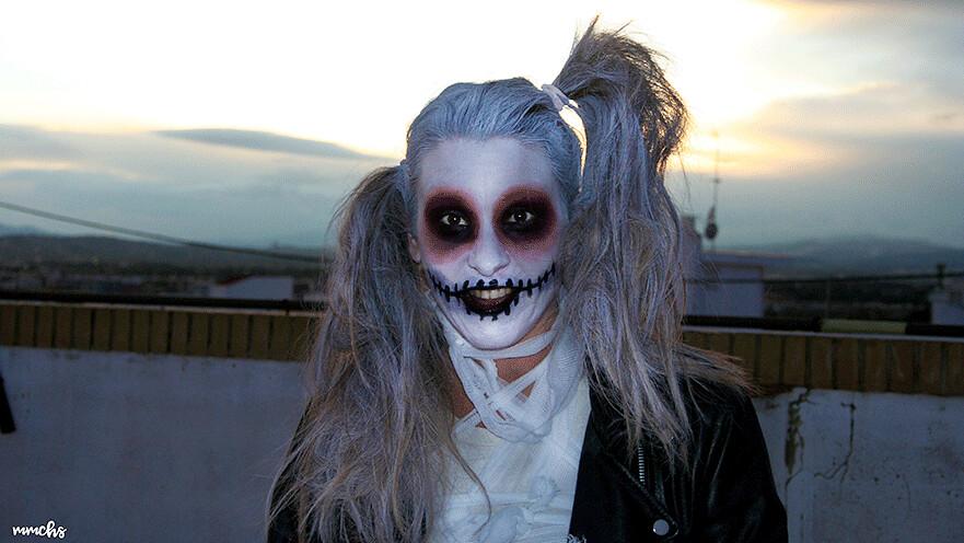 maquillaje zombie momia mujer Halloween