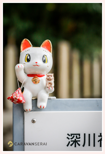 陶器の招き猫 深川神社 愛知県瀬戸市