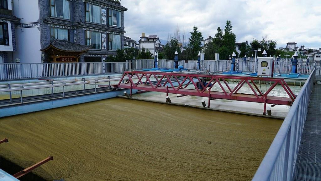 洱海藍藻現象嚴重,民間業者以固藻清理的科技方式,解決藻華問題。攝影:郭志榮