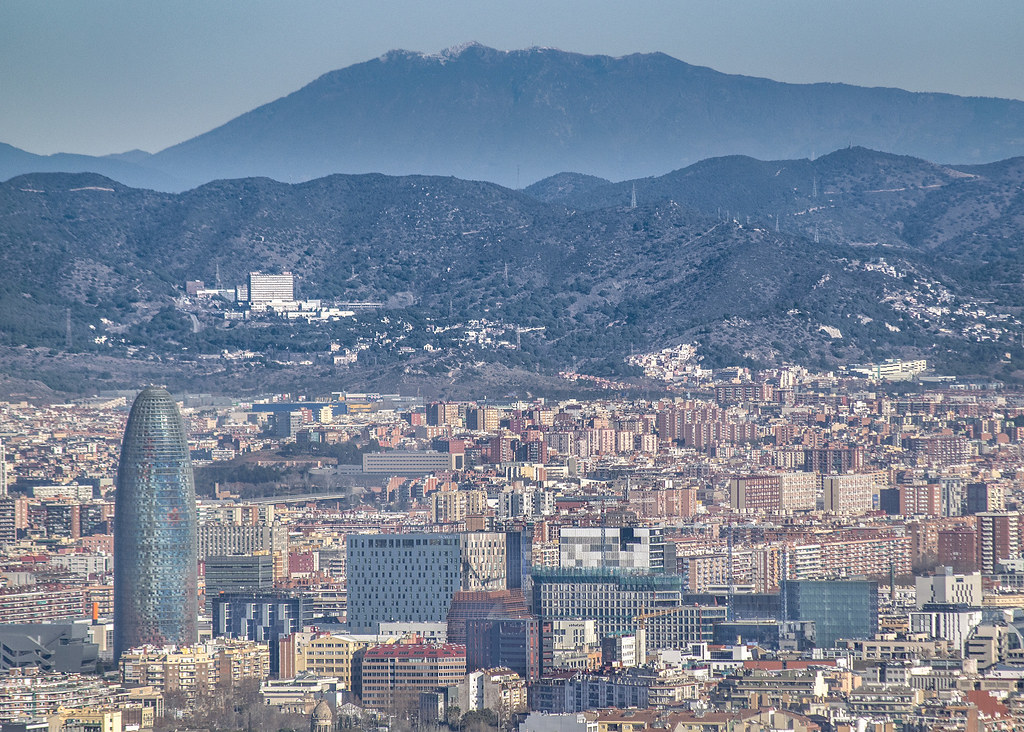 Aerial View Barcelona City Spain Aerial View Of Barcelona Flickr