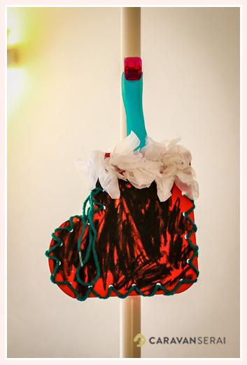 3歳の女の子が作ったクリスマスブーツ